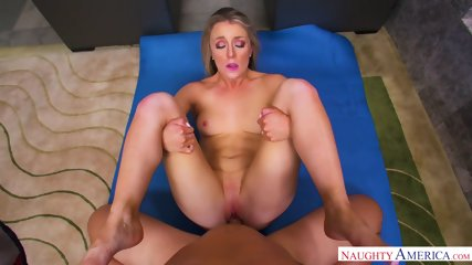 Blonde Housewife Filled With Dick