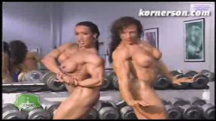 Nasty naked female bodybuilders - scene 12
