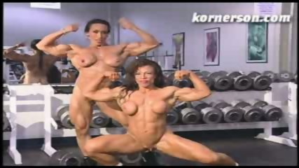 Nasty naked female bodybuilders - scene 1