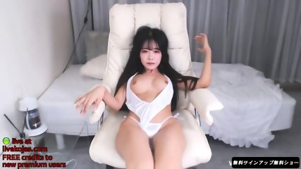 Korean beauty in sexy white bikini