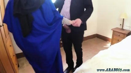 Cute muslim 21 year old refugee in my hotel apartment for sex