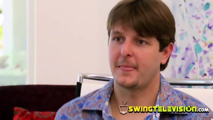 Conservative husband decides to fulfill his fantasies at the swing house