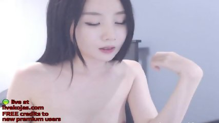 Korean tiny 18yo babe gets naked