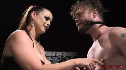 Mistress Loves to Fuck Her Slave With Strapon