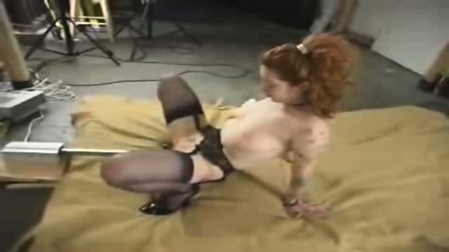Slut fucks sex machine