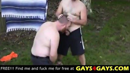 Bareback hot sex in the garden