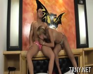 Young Tranny Swallows Cock - scene 5