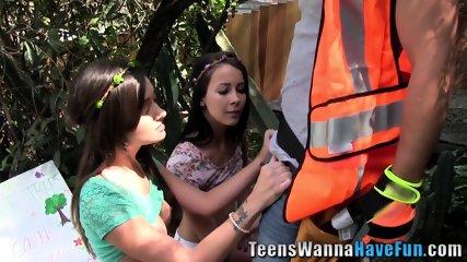 Real slutty teen jizzed