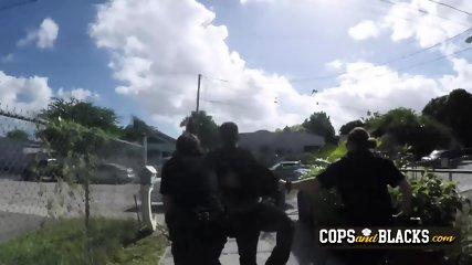 Thug gets arrested by milf cops for slapping his chick