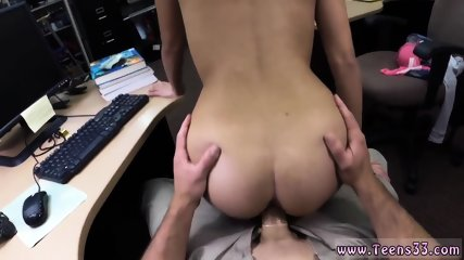 Back door amateur first time College Student Banged in my pawn shop!
