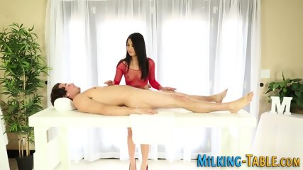 Asian masseuse tugs cock