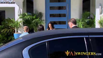 Hannah and JJ engage in sex before heading out to meet other horny swingers