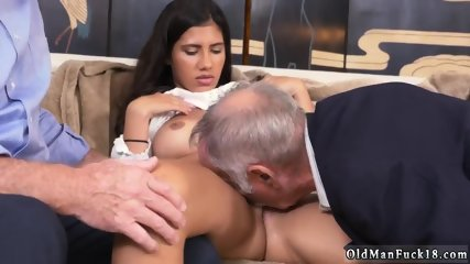 Nasty old milf and man gets blowjob first time Going South Of The Border