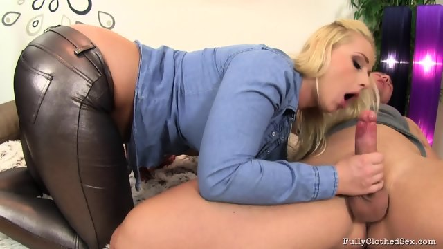 Clothed Blonde Fucked Hard