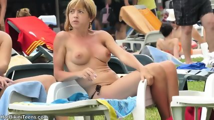 Sexy Bikini Teens With Hot Ass Micro Thongs Tanning - scene 12