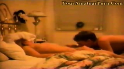 Married couple having quickie on the bed