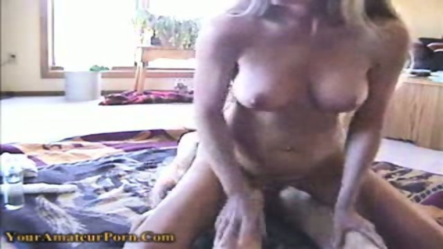 Horny bitch gets fucked in both of her holes