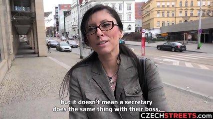 Czech MILF Secretary Pickup up and Fucked