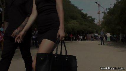 Naked slut shamed in public street