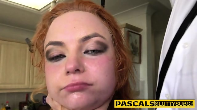 Bdsm redhead rides cock