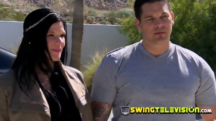 Modern couple arrives at the swing house to fulfill their kinky fantasies
