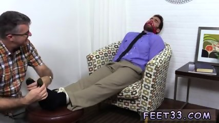 Gay sex video of boys Chase LaChance Tied Up, Gagged & Foot Worshiped
