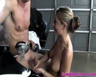 Sperm Loving Blonde Tugs Dick