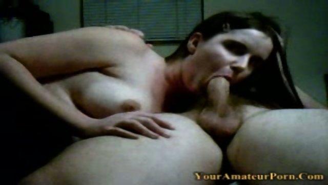Eliza sucking cock and taking a creamy facial