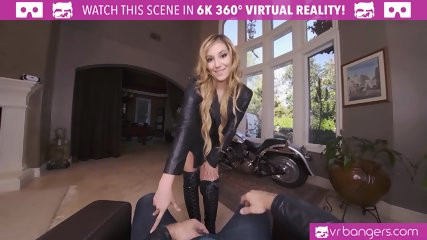 VRBangers Hot Biker Babe Get Her Pussy Opened Up By A Big Cock