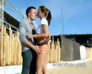 Hot And Skinny Outdoors Babe Mouth Fuck - scene 4