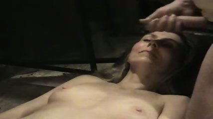Hot wife getting a cum facial in her mouth - scene 2