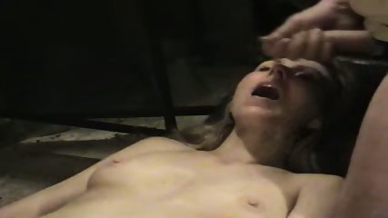 Hot wife getting a cum facial in her mouth - scene 3