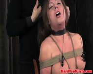 Gstring Tied Sub Gets Nipples Punished - scene 3