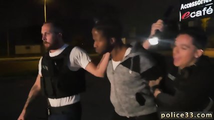 Gay cop blowjob and police fucking Purse thief becomes bootie meat