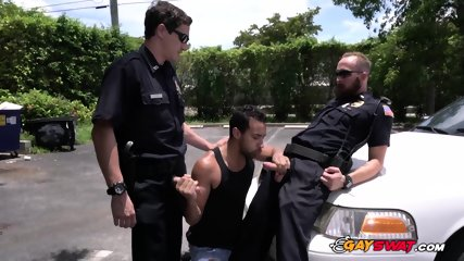 Suspect is pulled out of a spa for an asshole banging in parking lot
