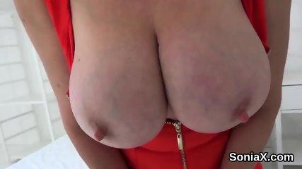Unfaithful english mature gill ellis showcases her big tits