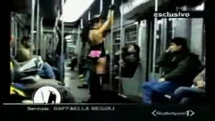 Lap dance in the train - scene 1