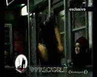 Lap dance in the train