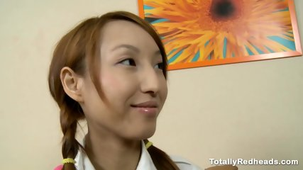 Japanese Redhead Fucked in the Ass