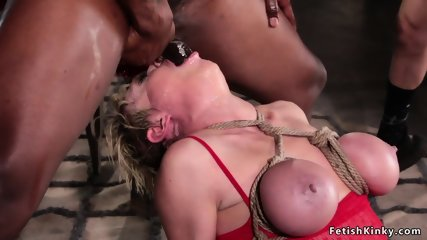 Huge tits Milf Mrs Claus interracial gangbanged