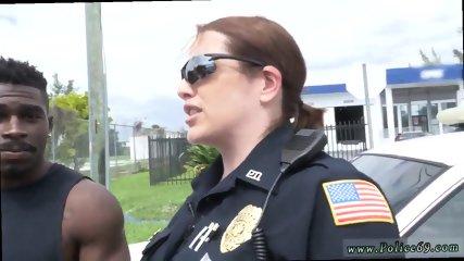 White girl strip fuck Black suspect taken on a harsh ride