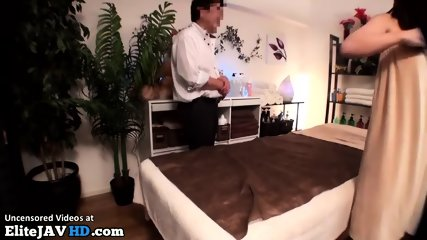 Japanese massage with hot 18yo turns in sex