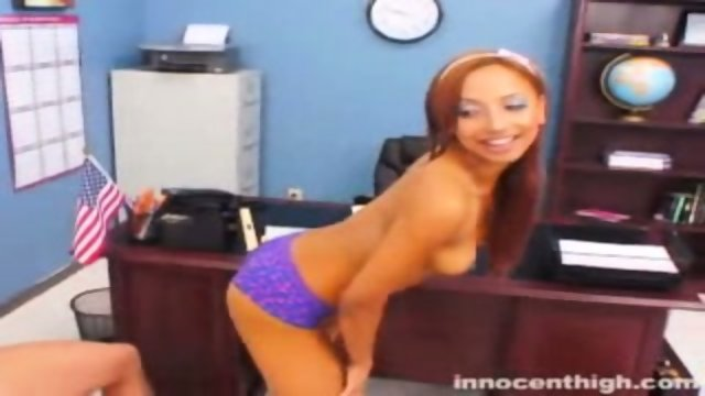 Veronique undresses in front of her teacher