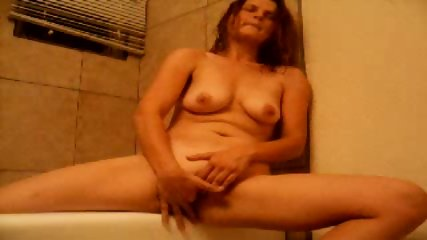 Mature fucks herself with Finger - scene 3