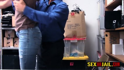 Sofie Marie is proven guilty and drilled by horny mall cop