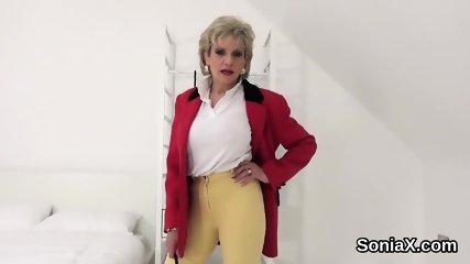 Unfaithful british mature lady sonia unveils her enormous titties
