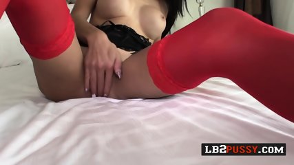 Horny shemales play with each others coochies until they cum