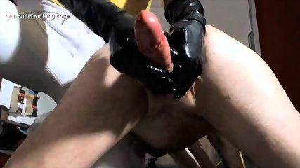 milking his big cock till he cums