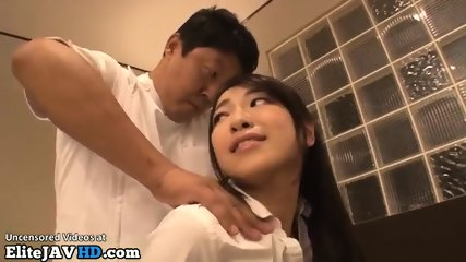 Japanese classic massage turns in hot sex