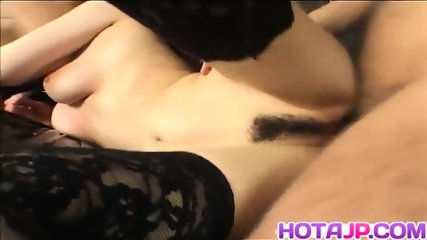 Top Asian babe hard fucked and jizzed on tits - More at hotajp.com